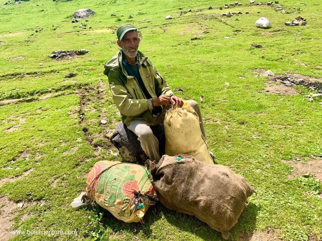 印度 india 喀什米爾 kashmir 大湖健行big lake treakking 淨湖 撿垃圾