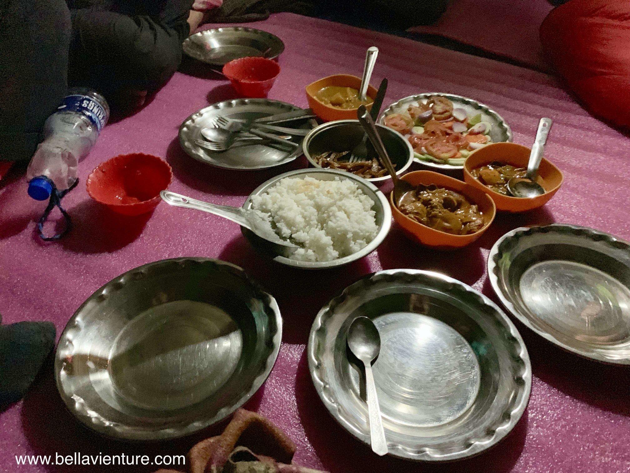 印度 India  喀什米爾 Kashmir  北北印 North India 八天七夜健行 晚餐