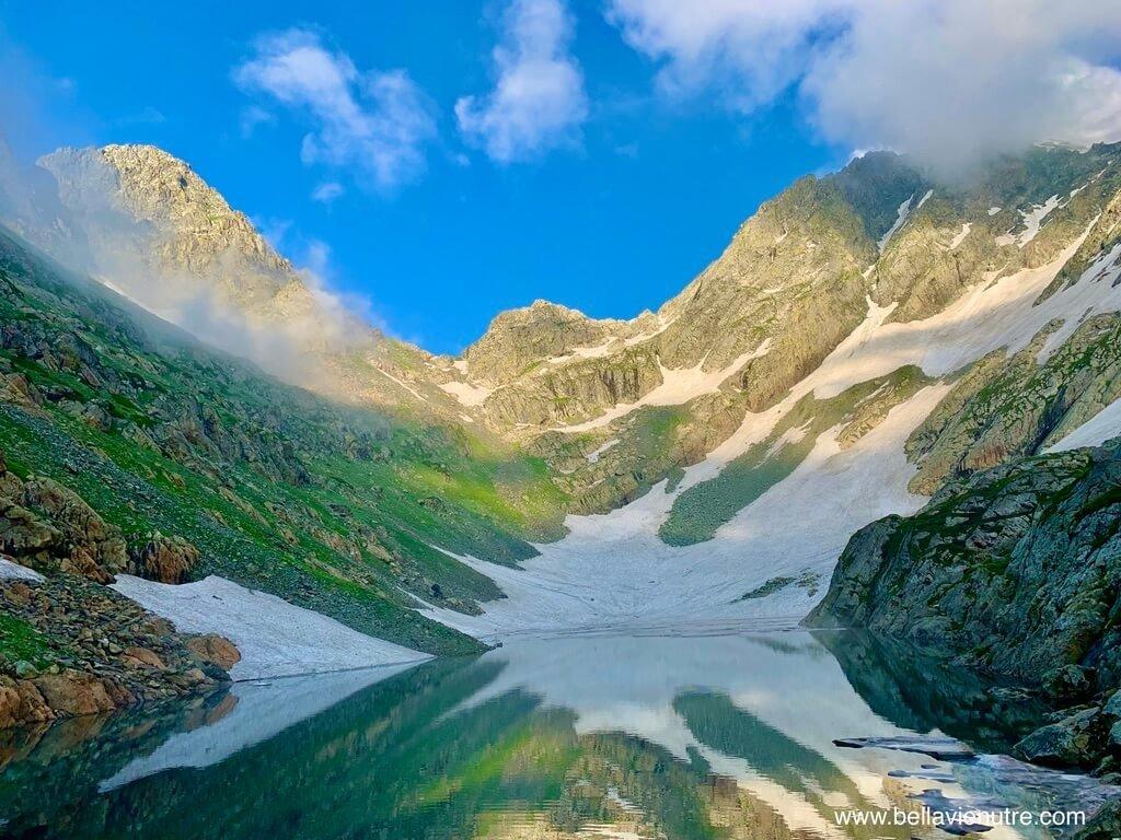 印度 India 北北印  North India 喀什米爾 Kashmir 大湖健行 trekking Kashmir Great Lakes Trek 百變的湖景
