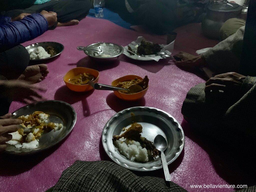 印度India 北北印 North India 喀什米爾 Kashmir 大湖健行 trekking 晚餐