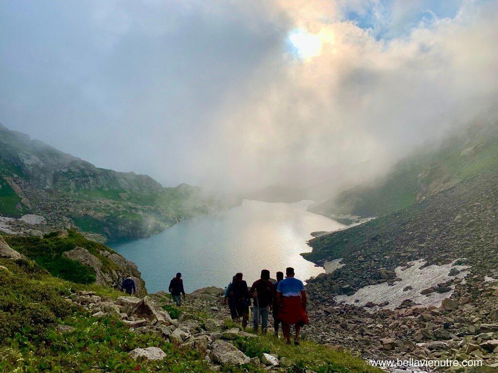 印度 India 北北印  North India 喀什米爾 Kashmir 大湖健行 trekking Kashmir Great Lakes Trek 太陽下山
