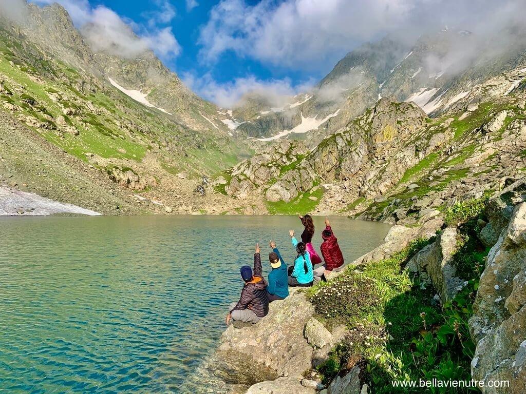印度 India 北北印  North India 喀什米爾 Kashmir 大湖健行 trekking Kashmir Great Lakes Trek 與聖湖團照