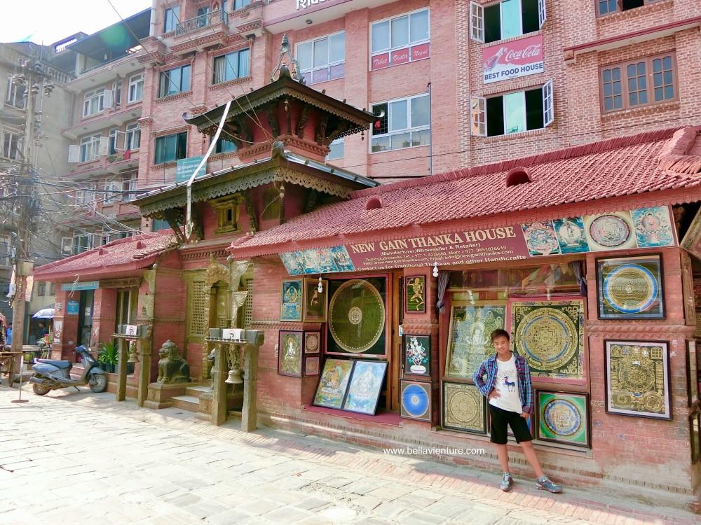 尼泊爾 加德滿都 Tamel area 塔美爾區 唐卡 街道