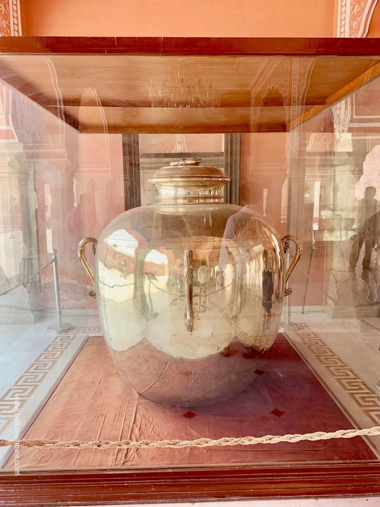 印度 india  齋浦爾 jaipur 城市宮殿 city palace 全世界最大銀壺