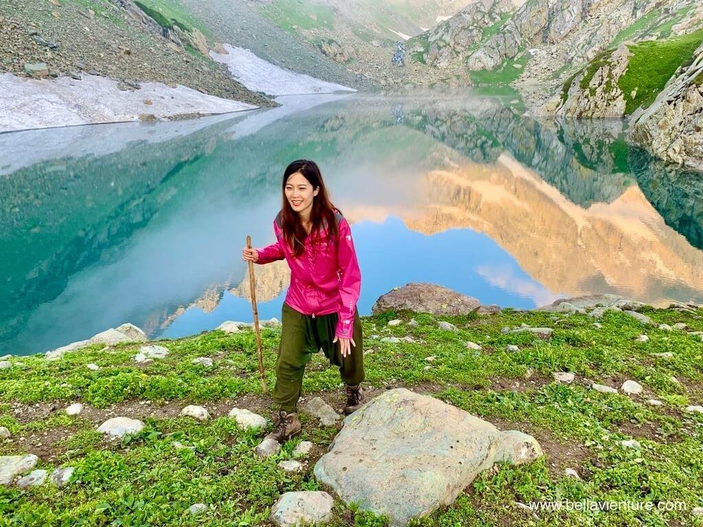 印度 India 北北印  North India 喀什米爾 Kashmir 大湖健行 trekking Kashmir Great Lakes Trek  夕陽西下