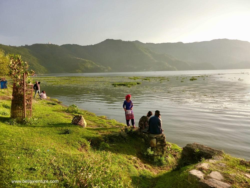 尼泊爾 波卡拉 Nepal Pokhara  Phewa lake 夕陽 湖景