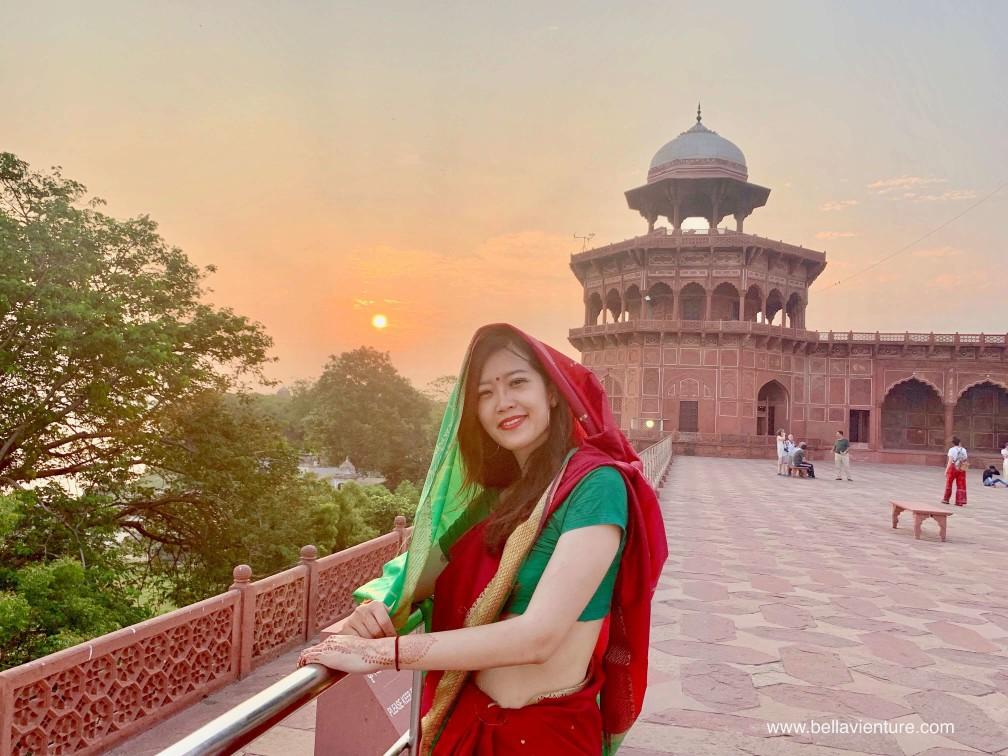 印度india  阿格拉 Agra 泰姬瑪哈陵 Taj Mahal 紗麗 Saree