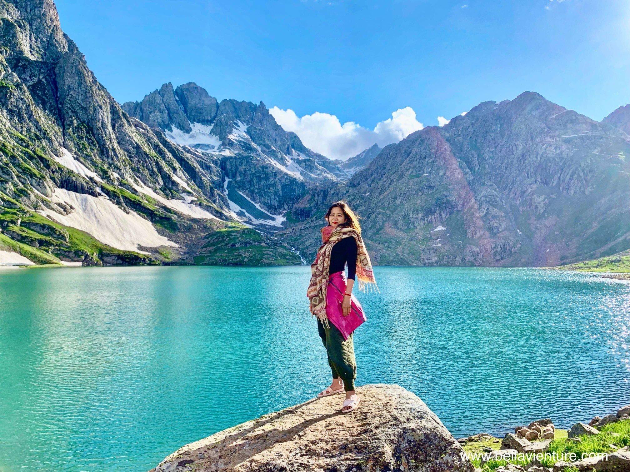 印度 India 北北印 North India 喀什米爾  Kashmir 八天七夜 健行 Nichnai Valley 超藍聖湖與我