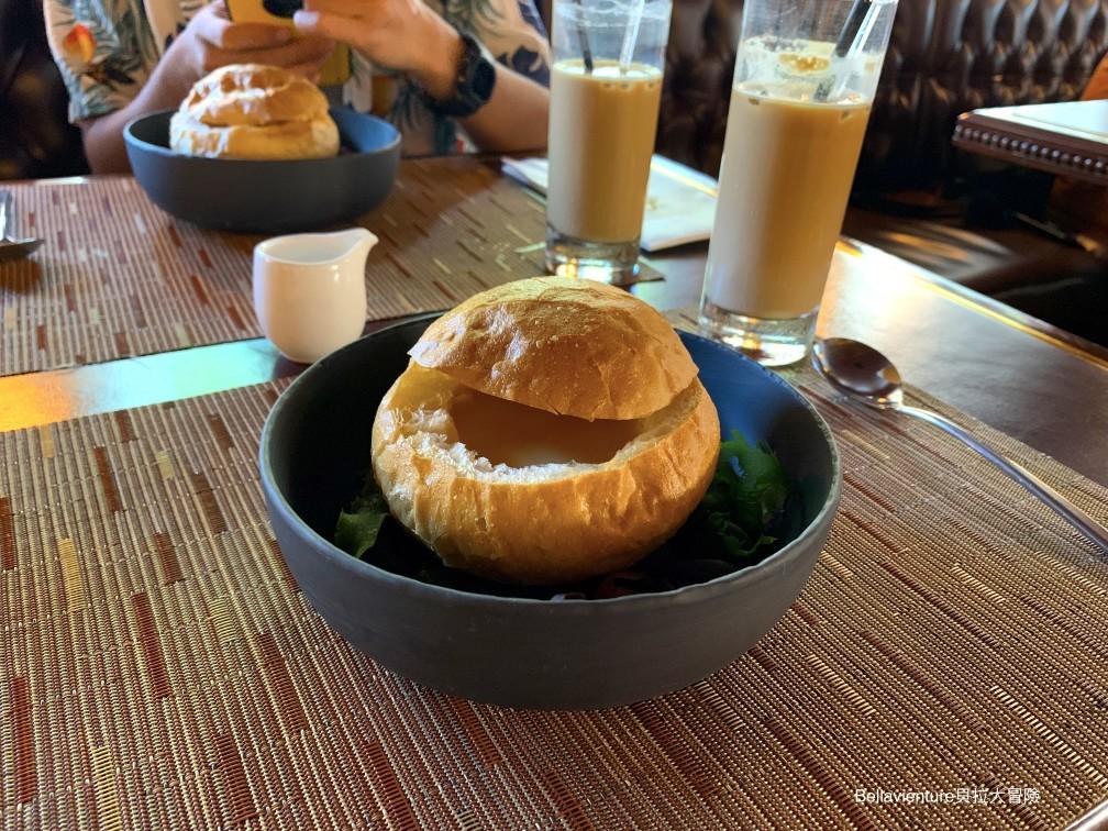 奶油鮮蝦麵包濃湯