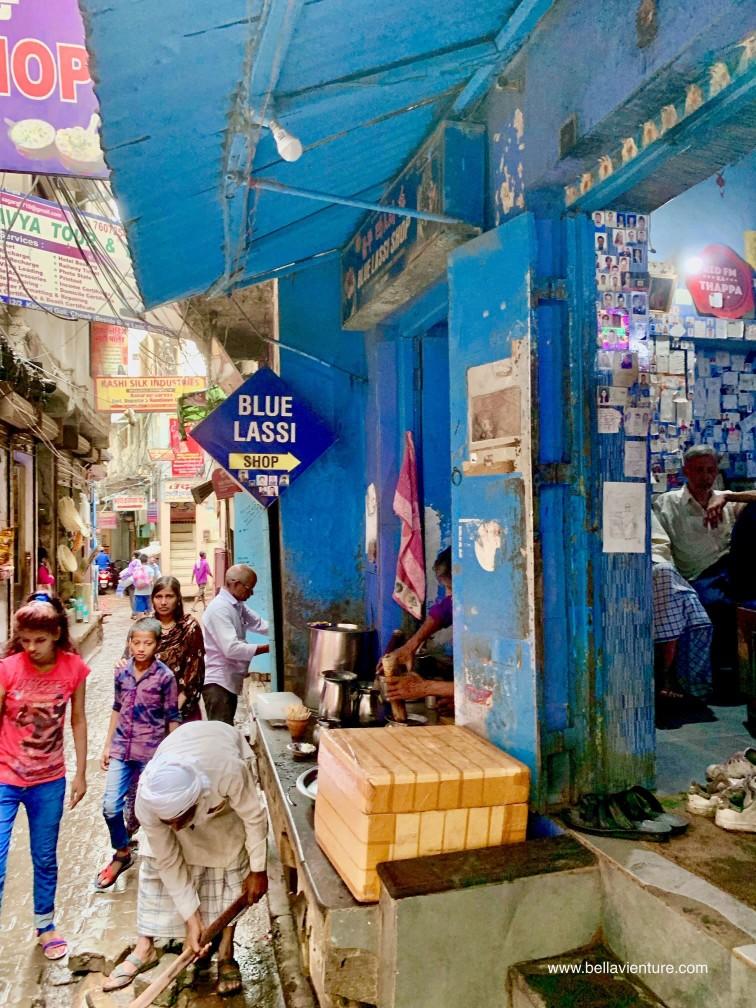 印度 india 瓦拉納西 varanasi 酸奶 blue lassi