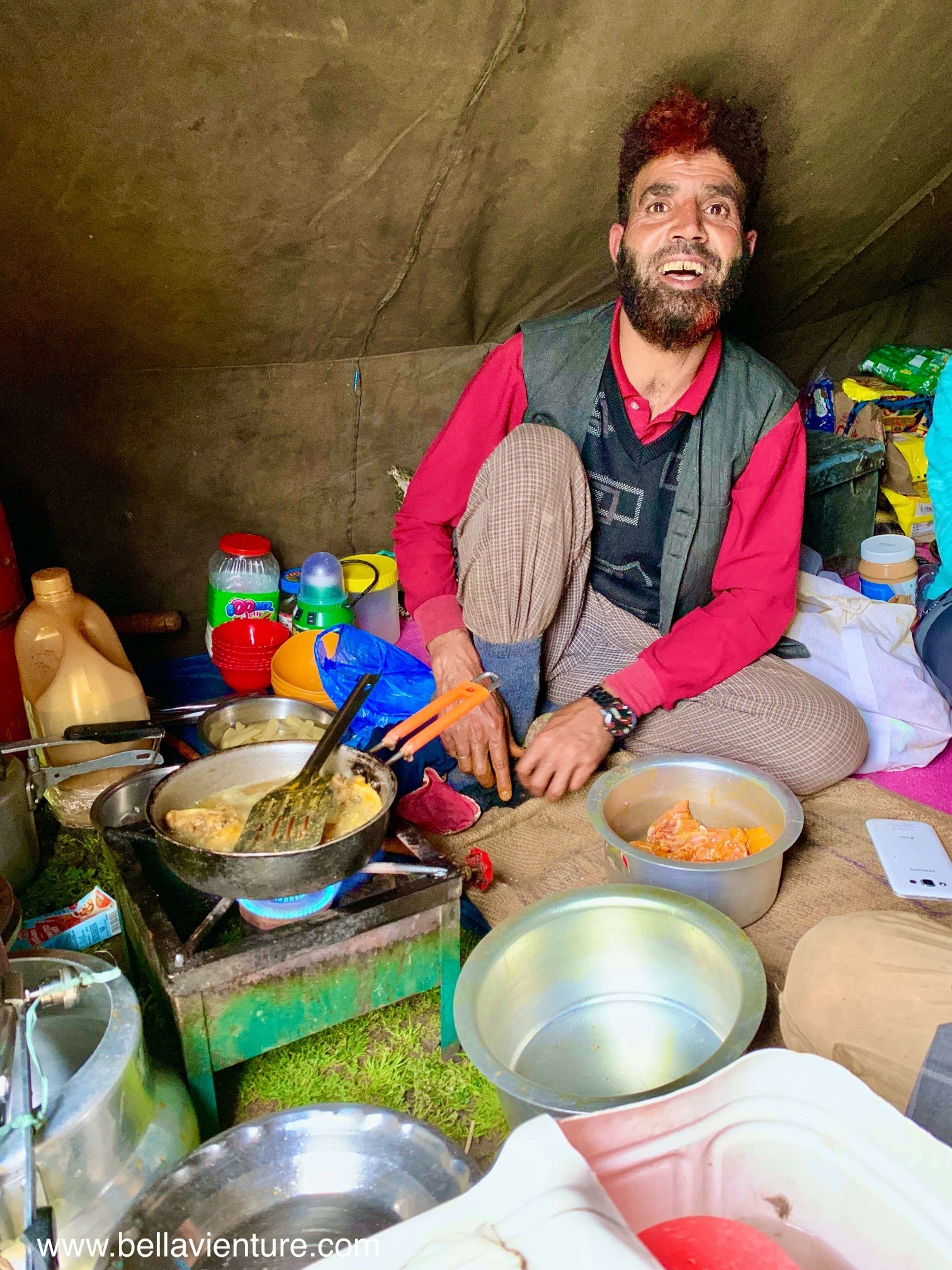 印度 India  喀什米爾 Kashmir  北北印 North India 八天七夜健行 廚師