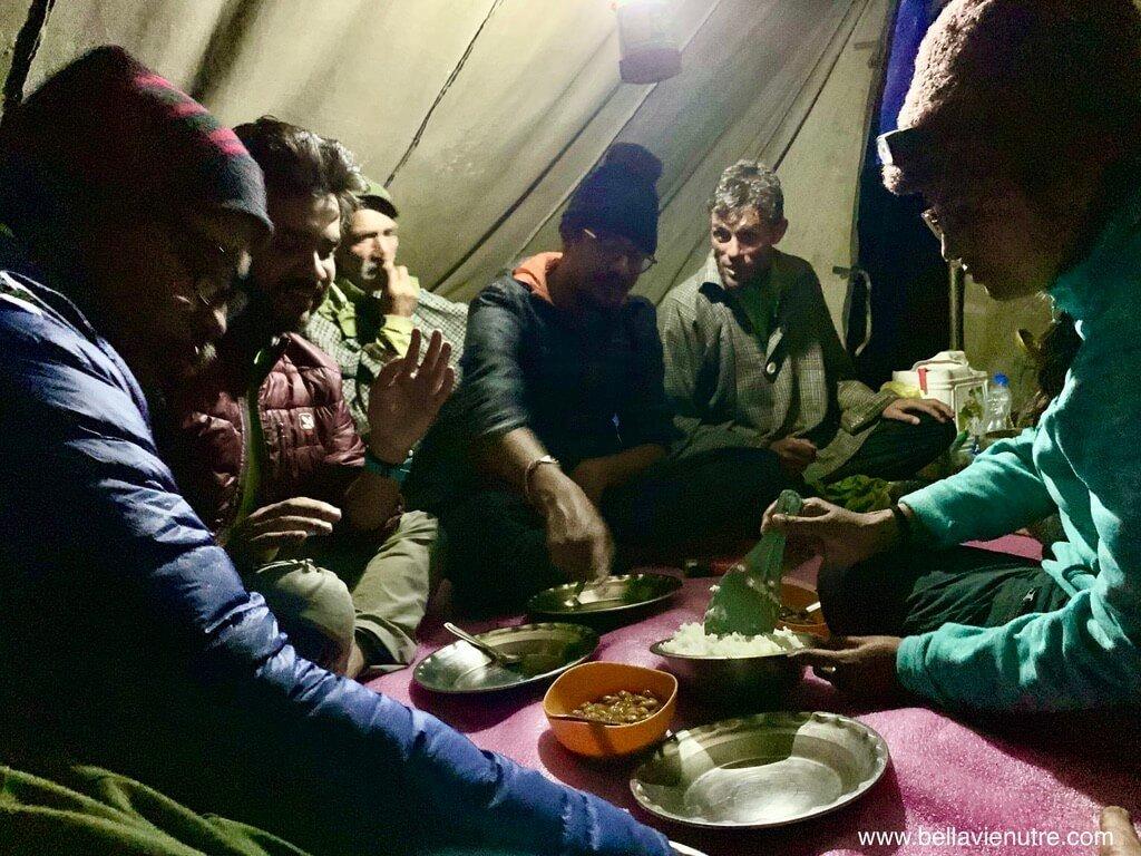 印度 India 北北印  North India 喀什米爾 Kashmir 大湖健行 trekking Kashmir Great Lakes Trek 與大家的晚餐