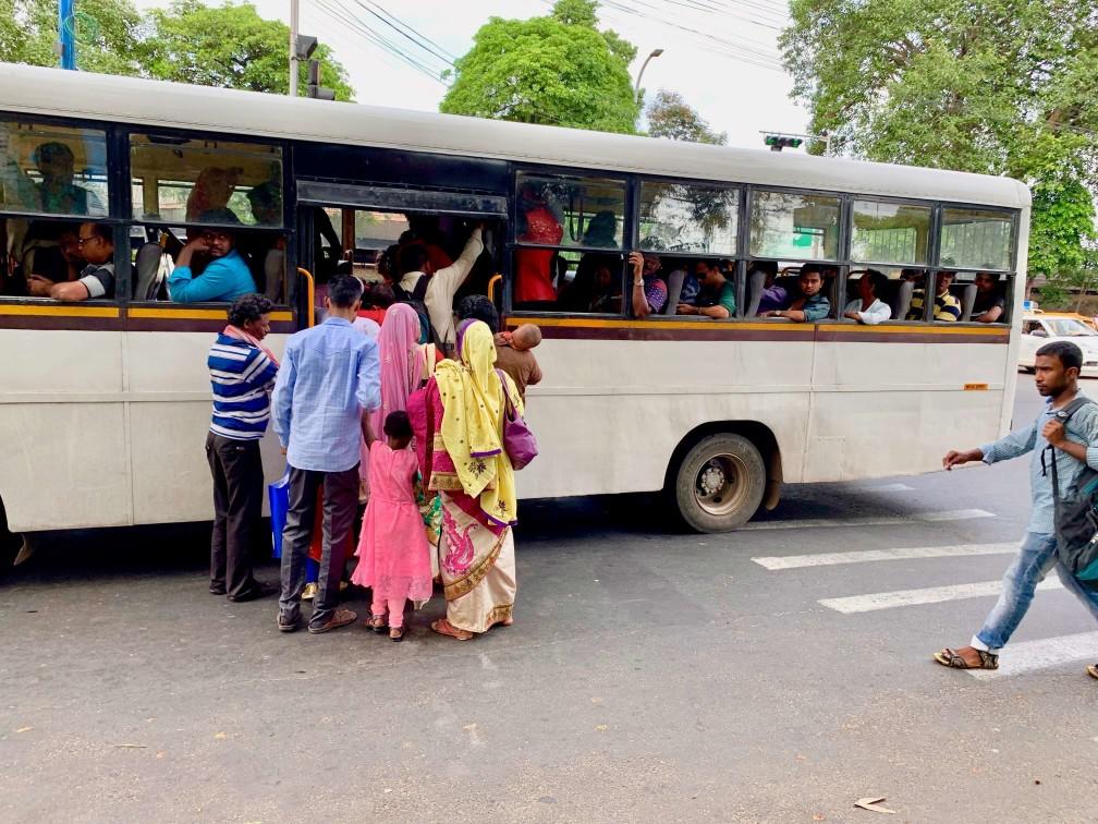 印度 巴士 加爾各答 India local bus kolkata