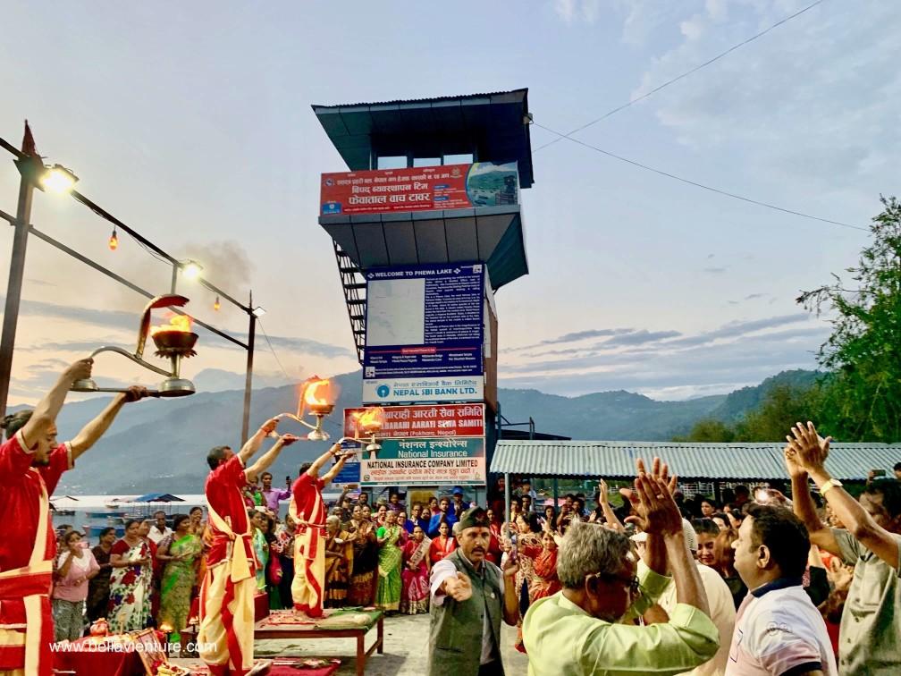 尼泊爾 波卡拉 Nepal Pokhara 民宿 Phewa lake 夜祭 Aarti