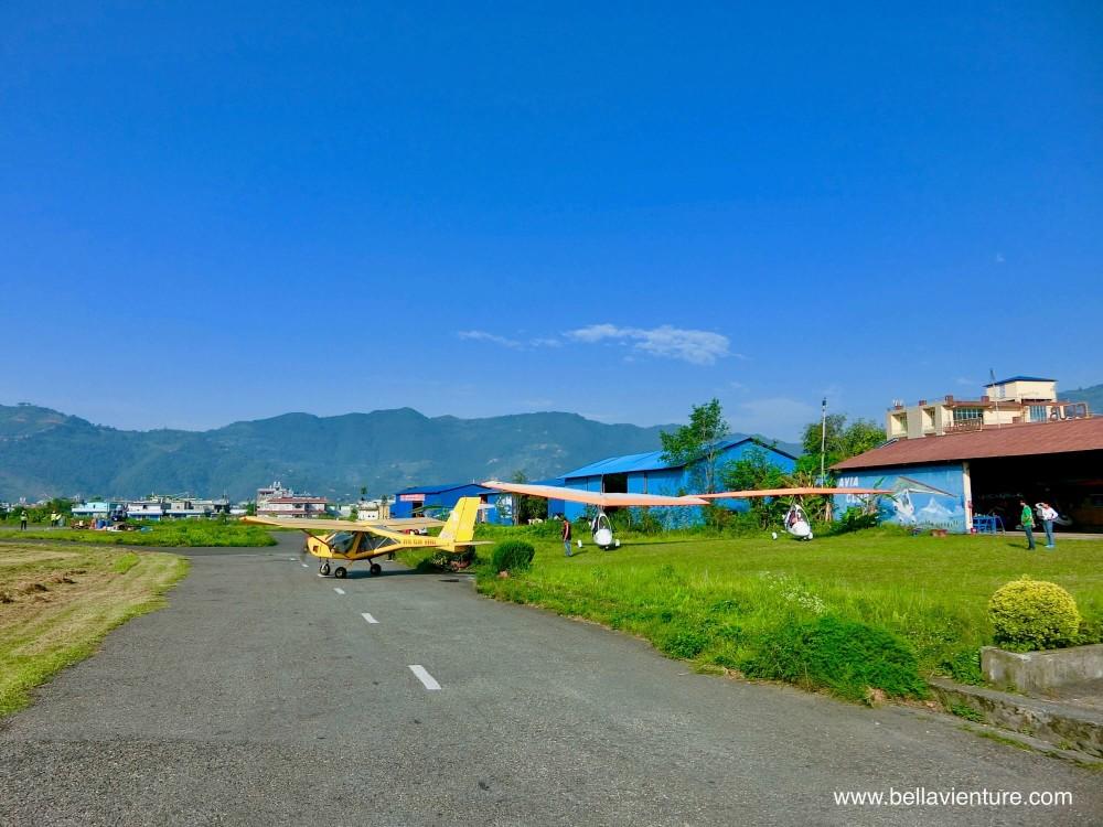 尼泊爾 波卡拉 滑翔翼 Auto plane  機場 停機坪