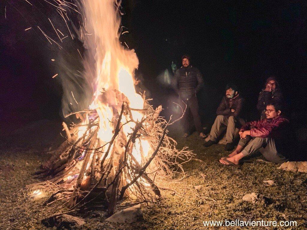 印度 india 喀什米爾 kashmir 大湖健行big lake trekking 升起之營火