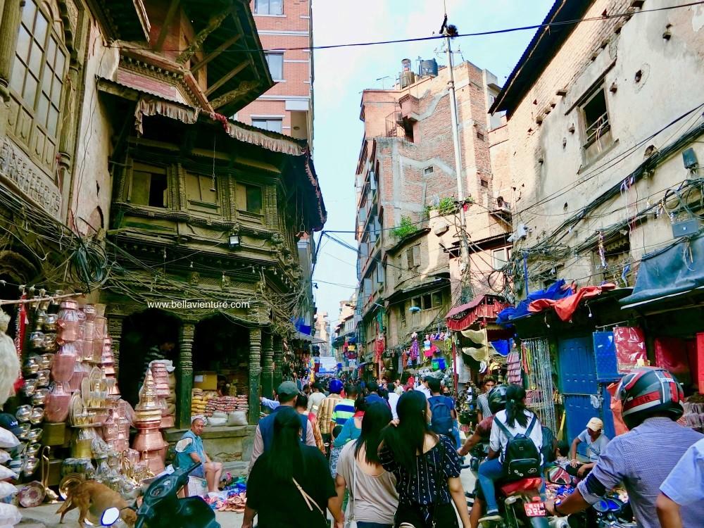 尼泊爾 加德滿都 電線 街道
