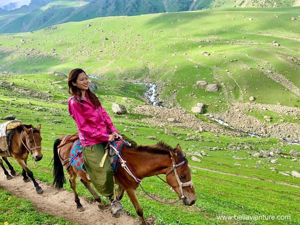 印度 india 喀什米爾 kashmir 大湖健行big lake treakking 騎馬