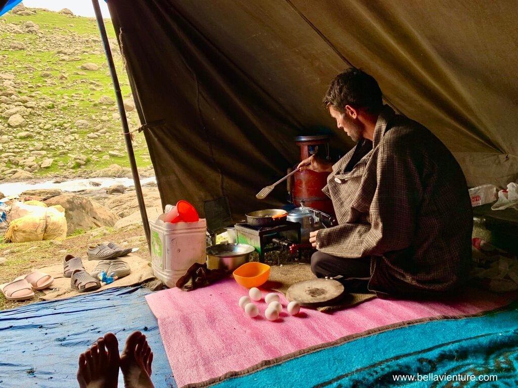 印度 india 喀什米爾 kashmir 大湖健行big lake treakking 準備午餐