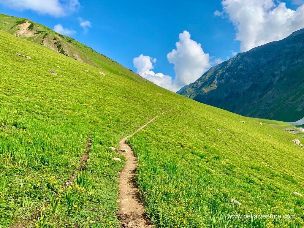 印度 India 北北印  North India 喀什米爾 Kashmir 大湖健行 trekking Kashmir Great Lakes Trek 草原