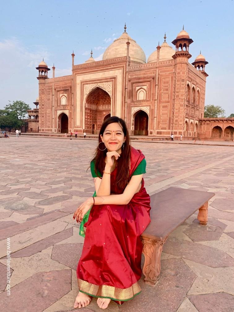印度india  阿格拉 Agra 泰姬瑪哈陵 Taj Mahal 紗麗 Saree 日出 sunrise