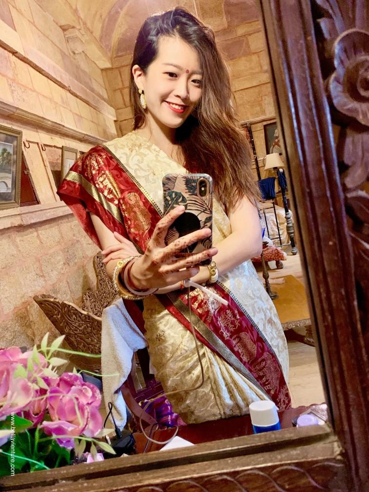 印度 india 賈莎梅爾Jaisalmer 金色城市golden city Nachna Haveli 紗麗 saree