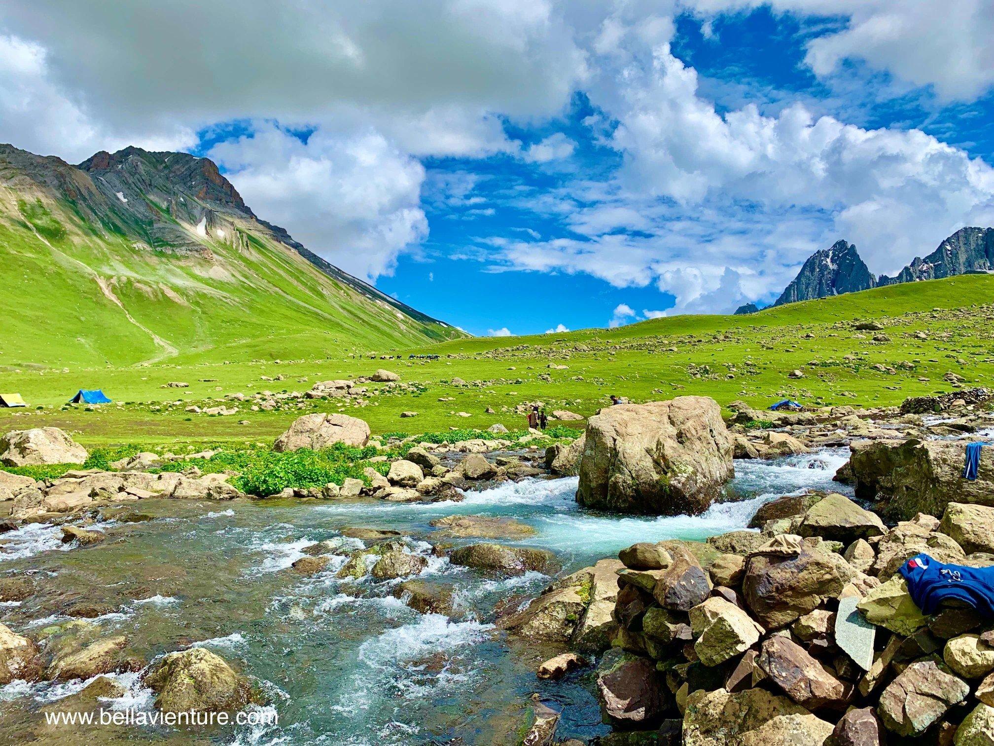 印度 India 北北印 North India 喀什米爾  Kashmir 八天七夜 健行 大自然 美景 藍天與小河