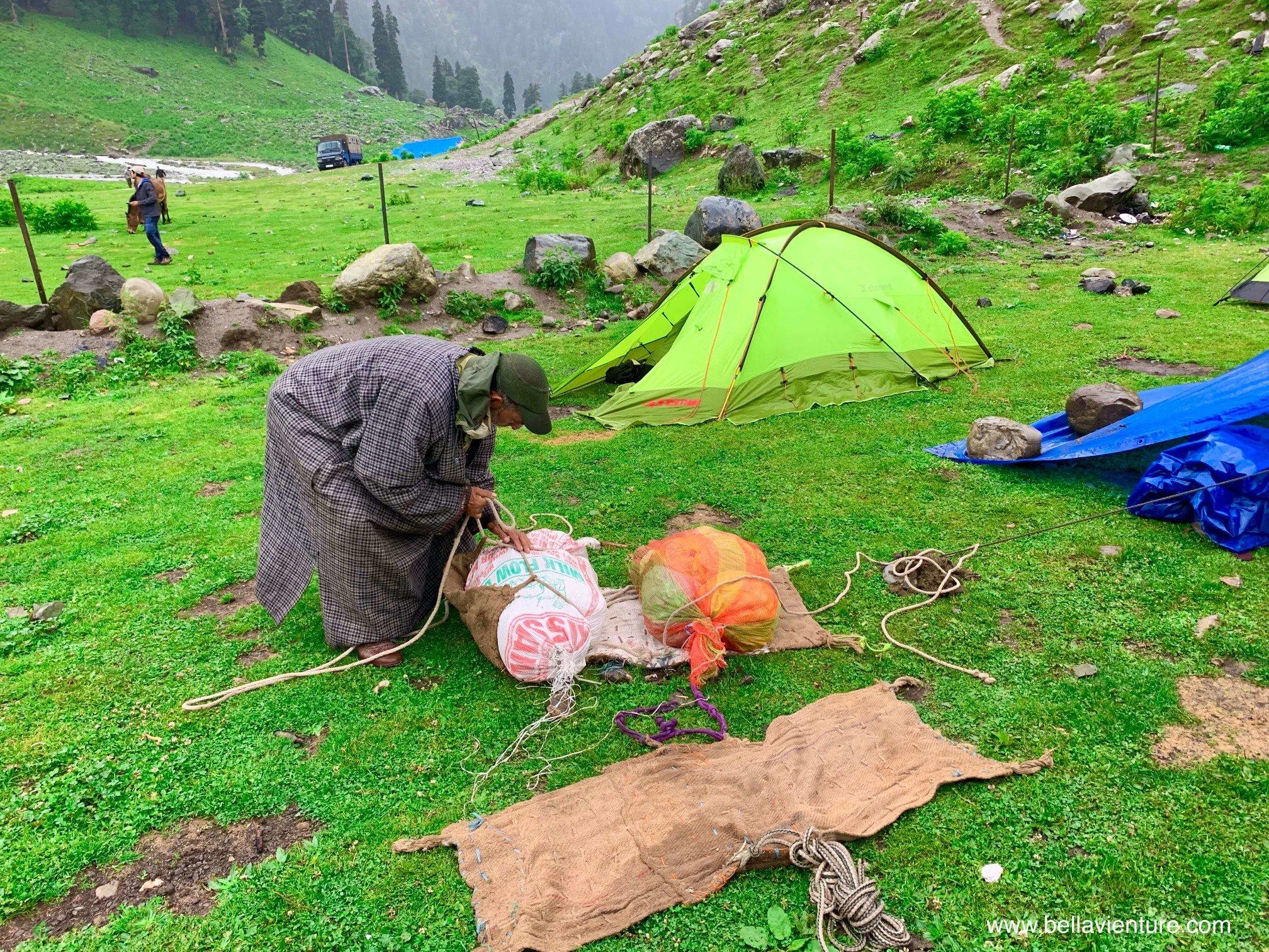 印度 India  喀什米爾 Kashmir  北北印 North India 八天七夜健行 Sonamarg 帳篷 Mamabura