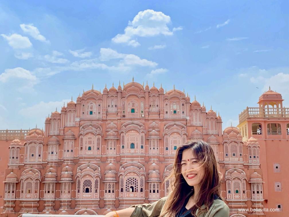 印度 india 齋浦爾 jaipur  街道 pink city hawa mahal 風之宮殿