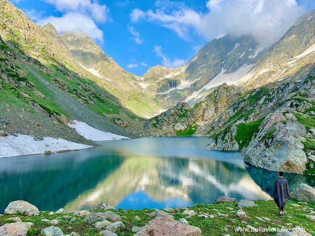 印度 India 北北印  North India 喀什米爾 Kashmir 大湖健行 trekking Kashmir Great Lakes Trek 多變的湖景