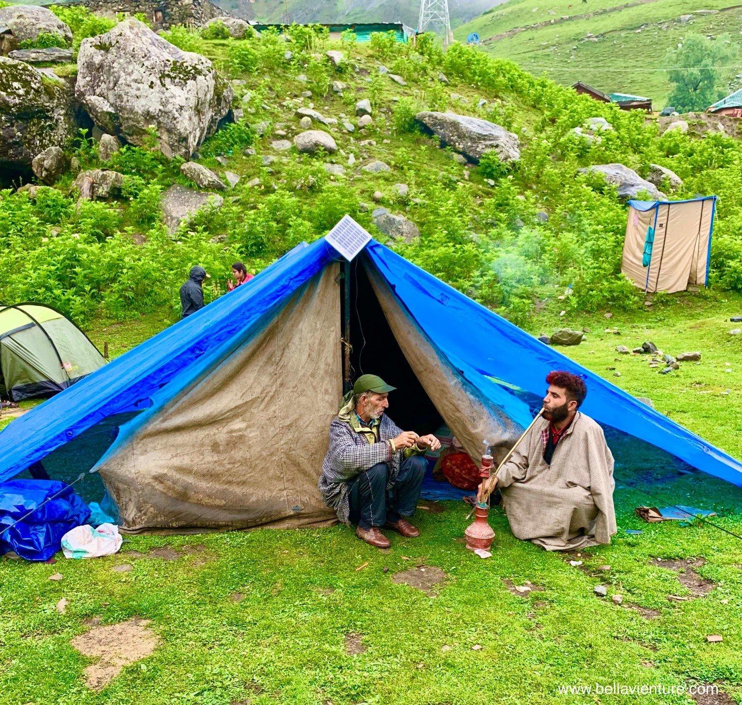 印度 India  喀什米爾 Kashmir  北北印 North India 八天七夜健行 Sonamarg 水煙 清晨