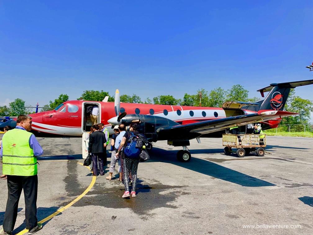尼泊爾 加德滿都 機場 KTM PKR simrik airline