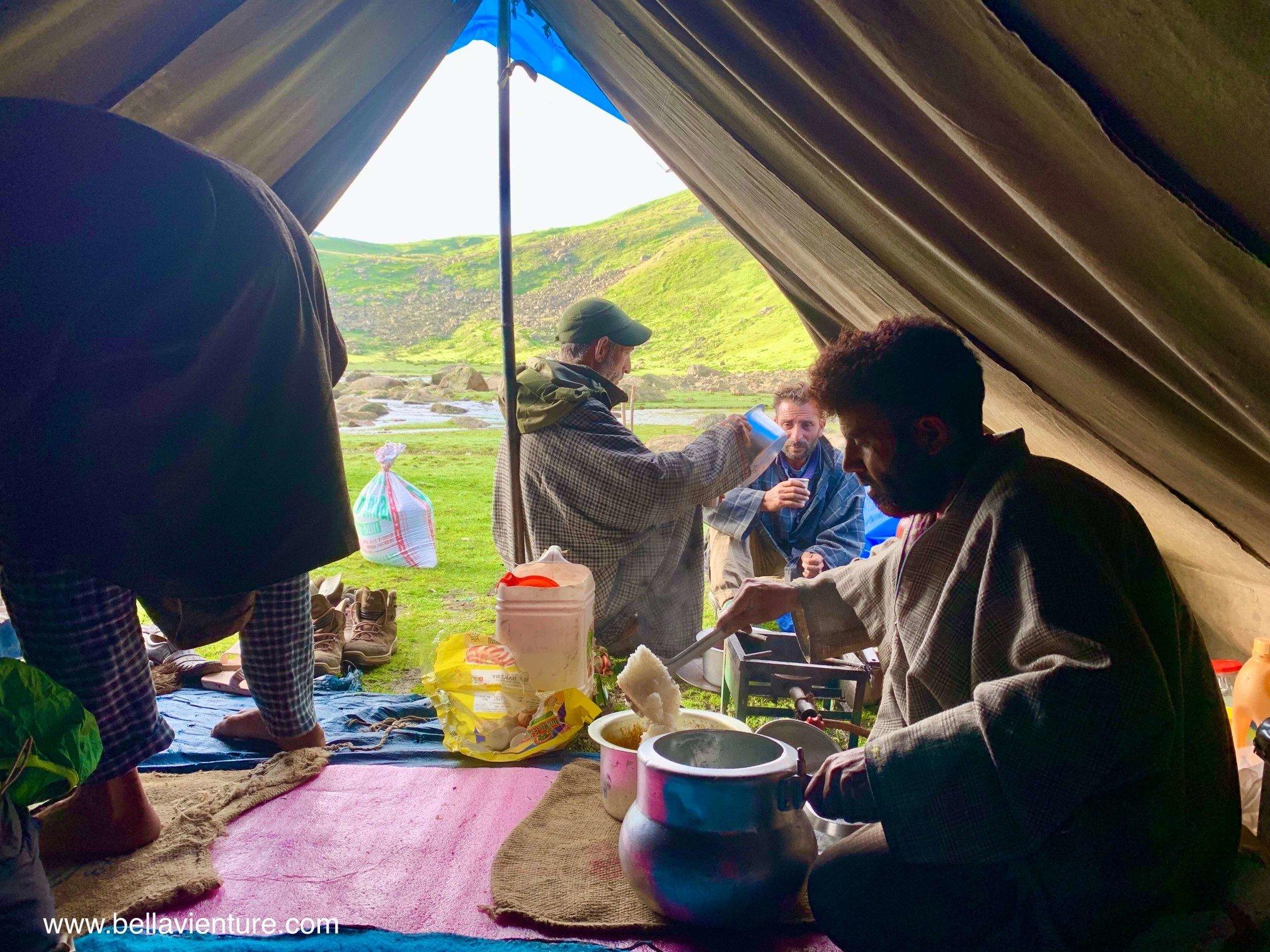 印度India 北北印North Inida  喀什米爾Kashmir 健行Trekking 早餐