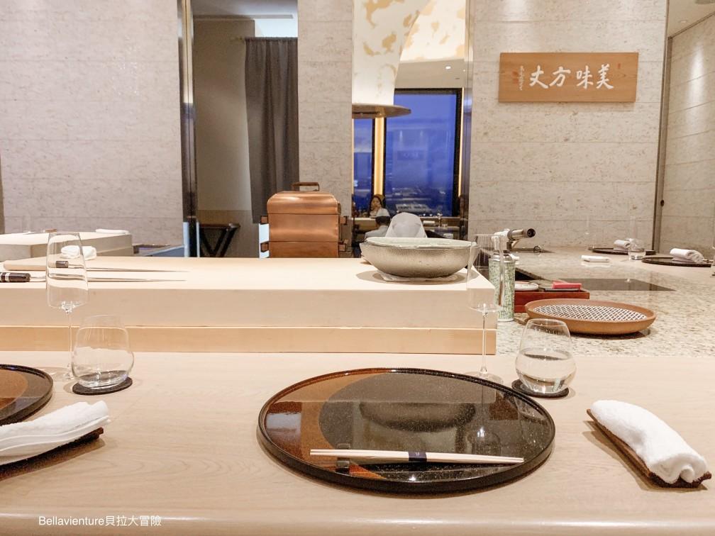 The counter seat in the Ukai taipei