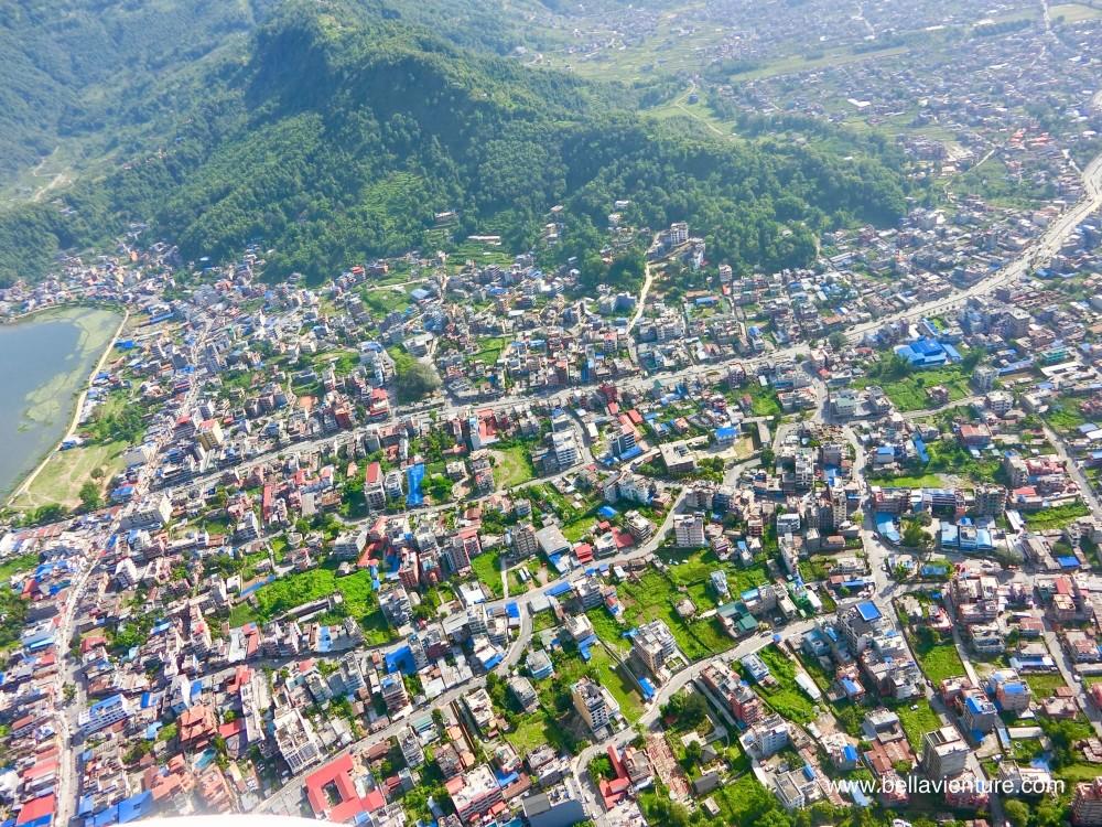 尼泊爾 波卡拉 滑翔翼 Auto plane  Fishtail  市區