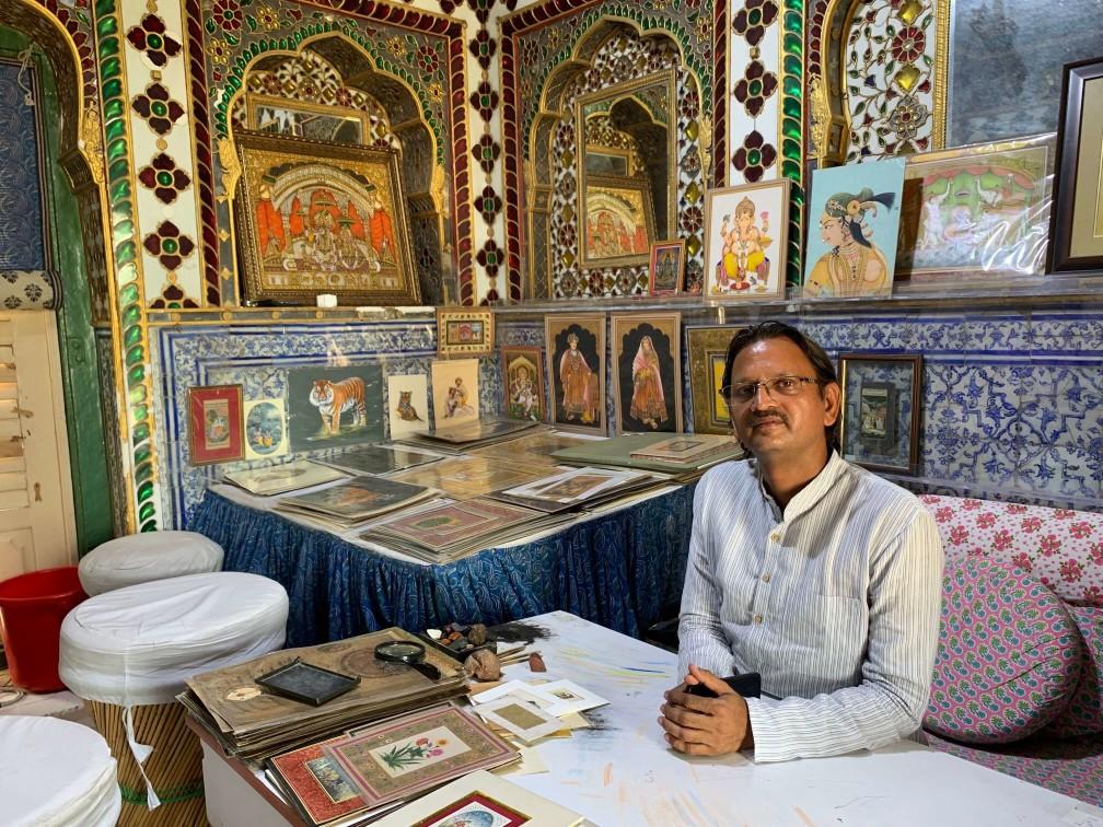印度 india  齋浦爾 jaipur 城市宮殿 city palace 畫室
