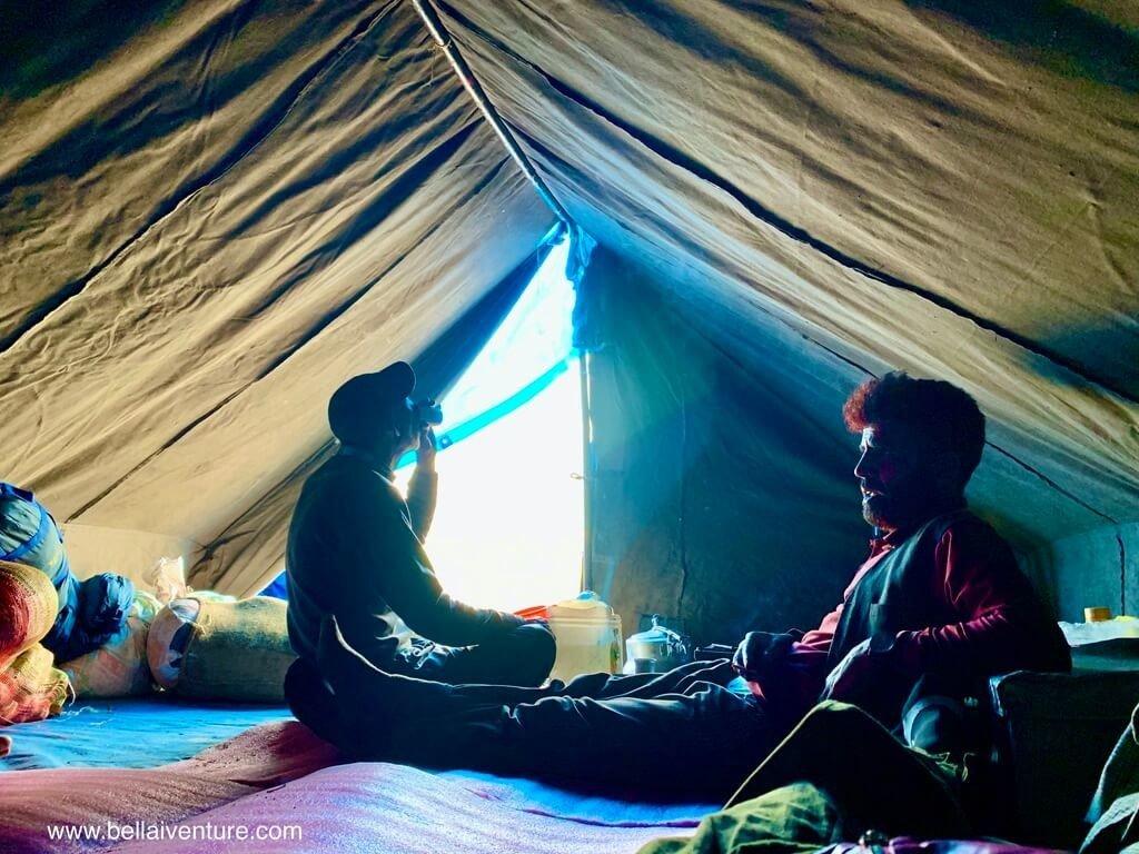印度 India 北北印  North India 喀什米爾 Kashmir 大湖健行 trekking Kashmir Great Lakes Trek 中午休息