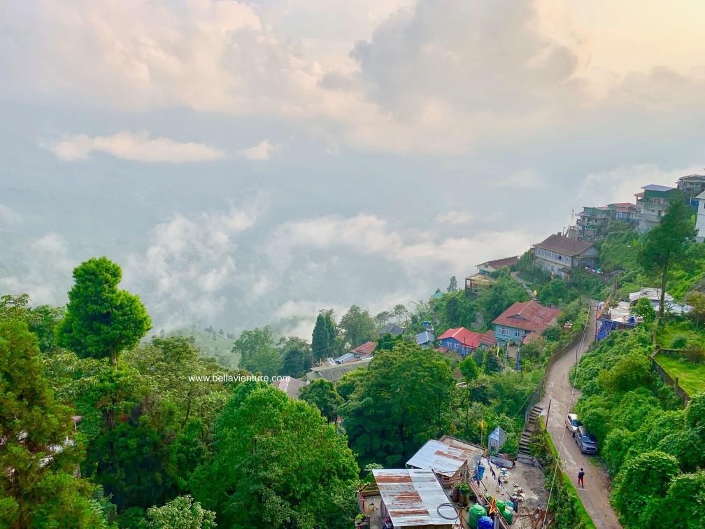 印度 大吉嶺 山景 夕陽