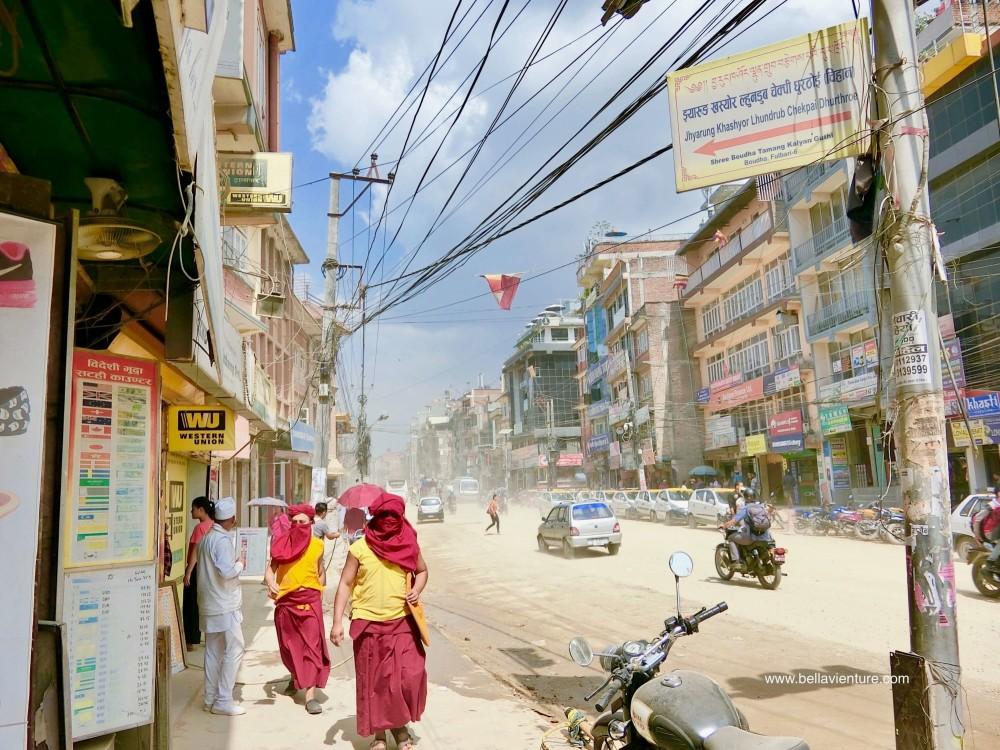 尼泊爾nepal 加德滿都 kathmandu 沙塵 街道