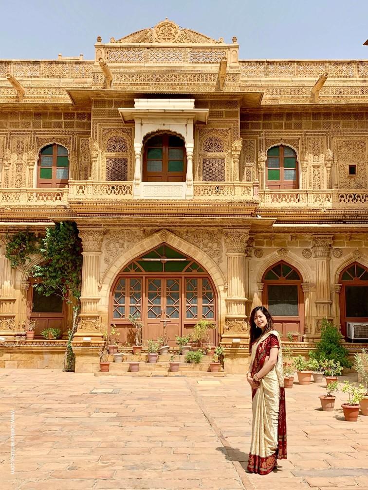 印度 india 賈莎梅爾Jaisalmer 金色城市golden city 哈瓦利 Haveli Mandir palace
