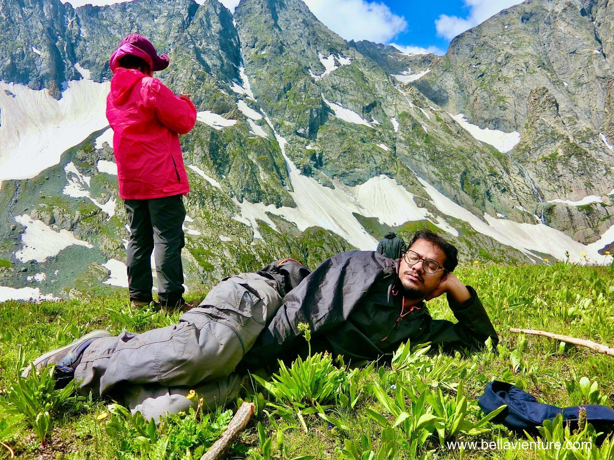 印度India 北北印 North India 喀什米爾 Kashmir 大湖健行 trekking 印度團友 隨時睡