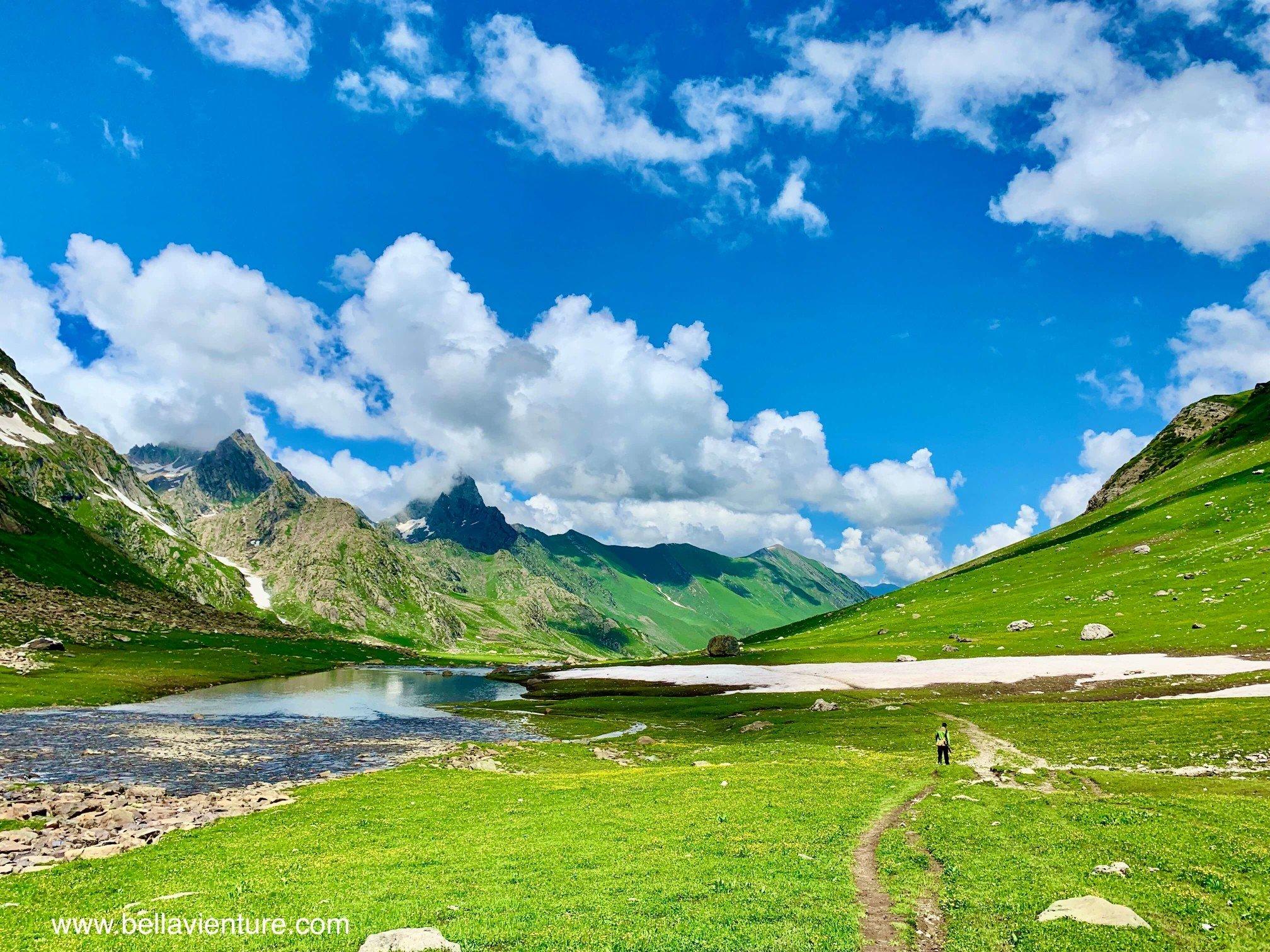 印度India 北北印 North India 喀什米爾 Kashmir 大湖健行 trekking 藍天白雲