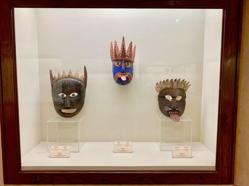 印度 加爾各答 印度博物館 面具