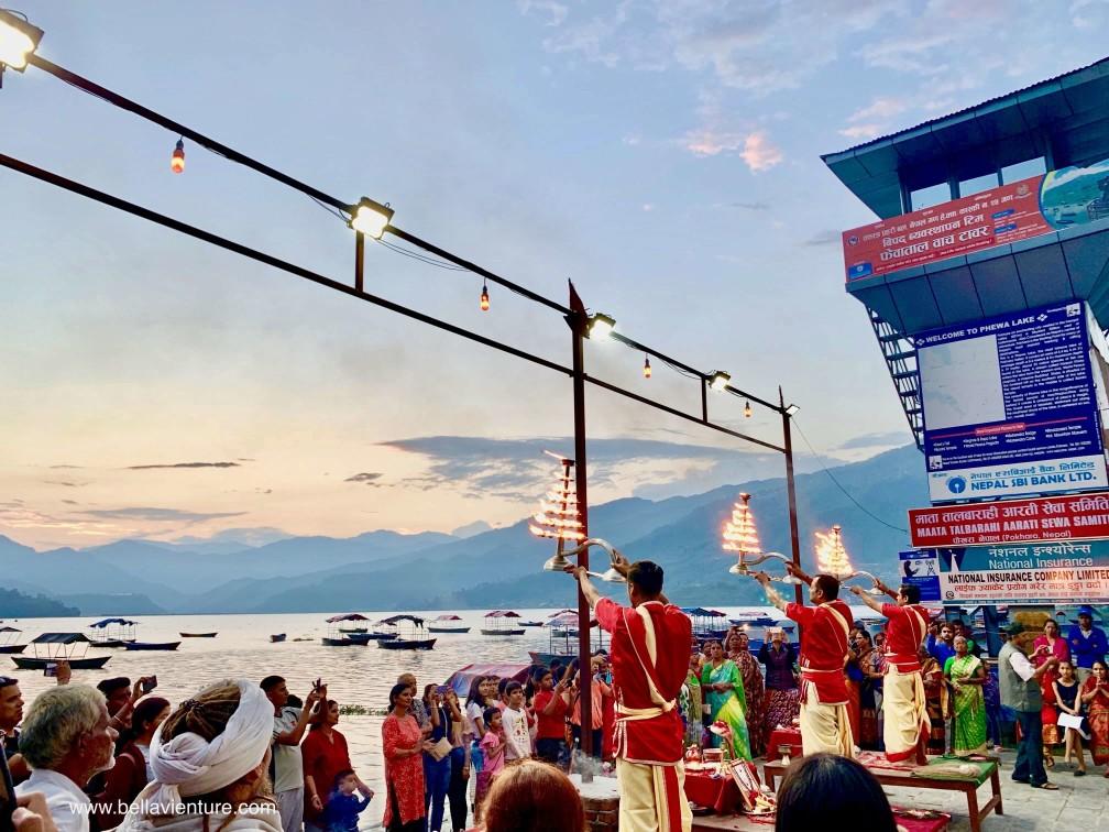 尼泊爾 波卡拉 Nepal Pokhara 民宿 Phewa lake 夜祭Aarti