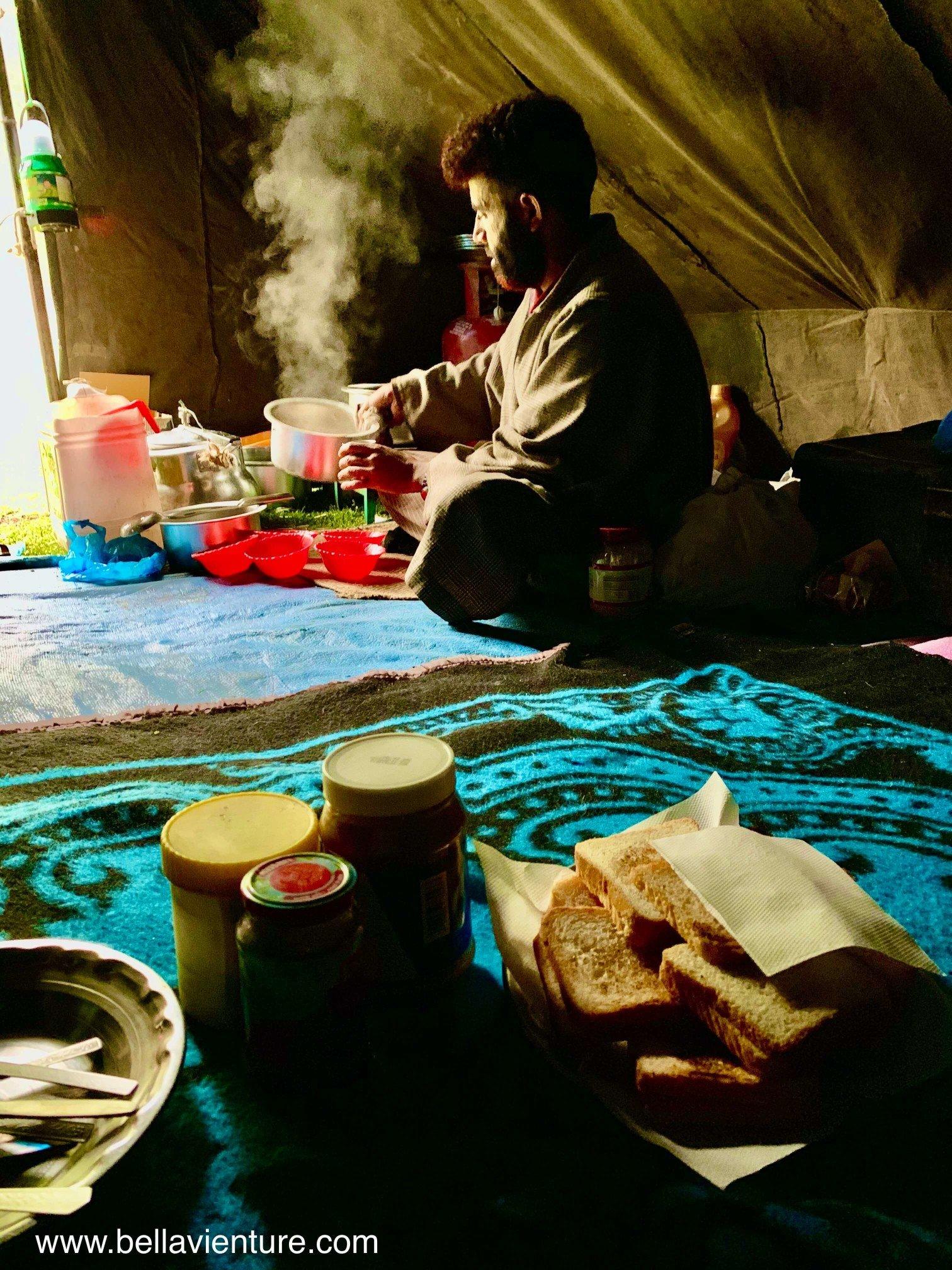 印度 India  喀什米爾 Kashmir  北北印 North India 八天七夜健行 Sonamarg 廚師 早餐