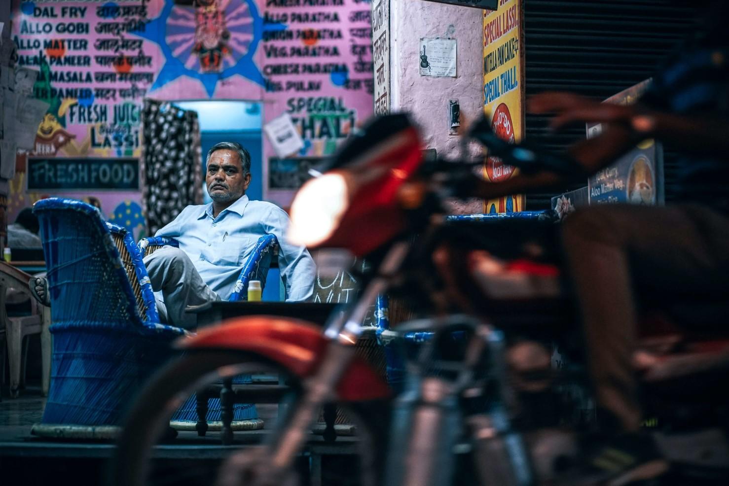 印度 男人 街景