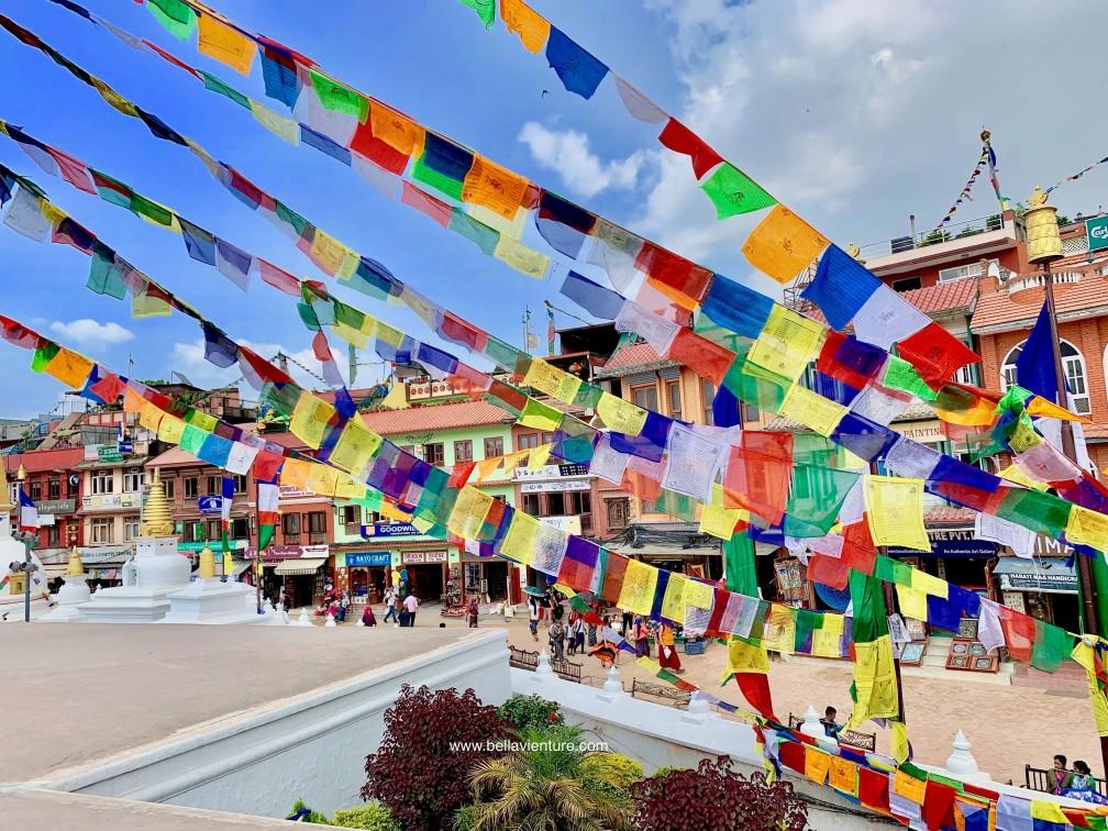 尼泊爾 加德滿都 nepal kathmandu 博拿佛塔Boudhanath Stupa 五色旗