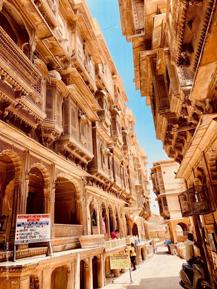 印度 india 賈莎梅爾Jaisalmer 金色城市golden city 哈瓦利 Haveli