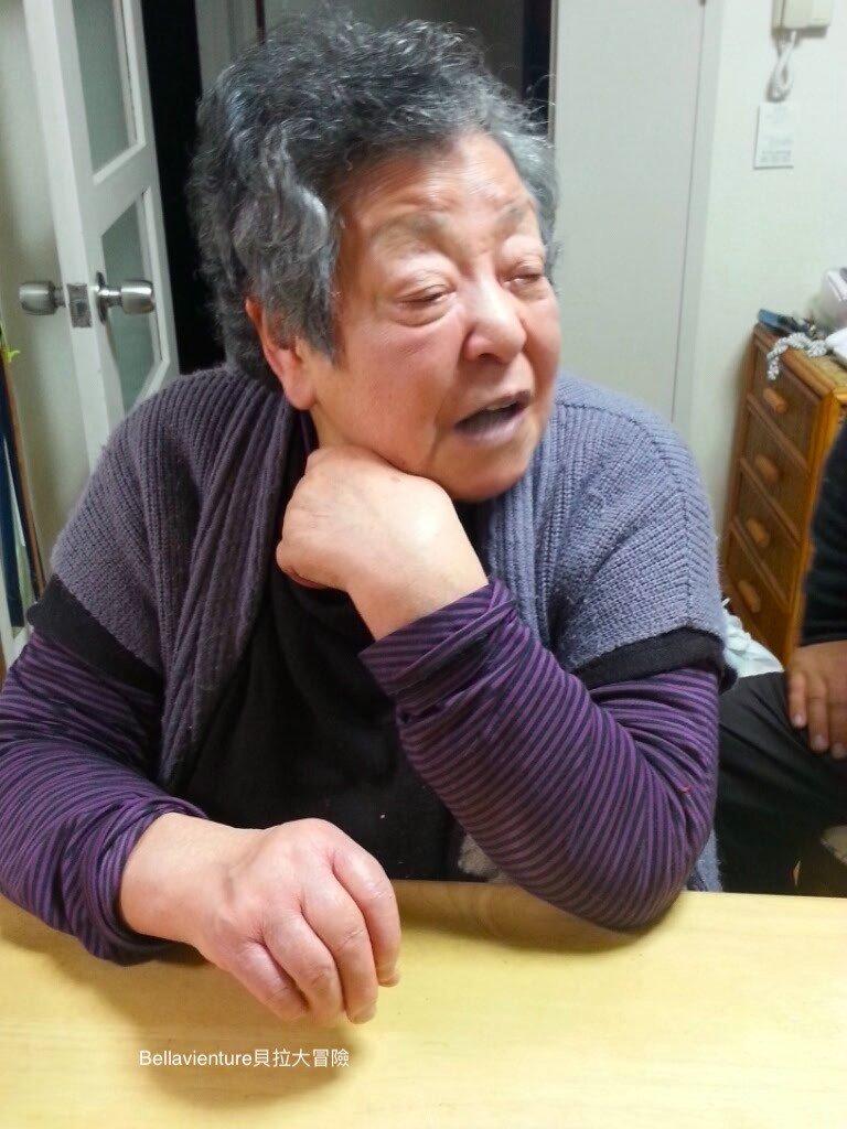日本外婆大概80歲左右時拍的照片