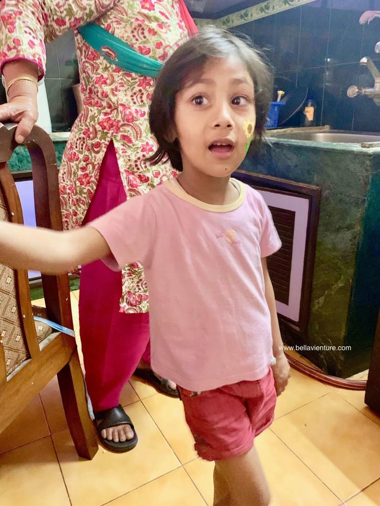 尼泊爾 加德滿都 homestay little girl